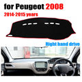 Car dashboard covers mat for Peugeot 2008 2014-2015 years Right hand drive dashmat pad dash cover auto accessories