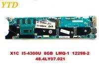 Original for Lenovo X1 X1C laptop motherboard X1C I5 4300U 8GB LMQ 1 12298 2 48.4LY07.021 tested good free shipping
