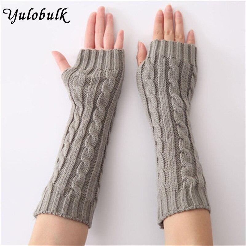 Arm Wärmer Frauen Männer Winter Warme Gestrickte Finger Lange Weibliche Handschuhe Fäustlinge Handschoenen 18oct30 Bekleidung Zubehör