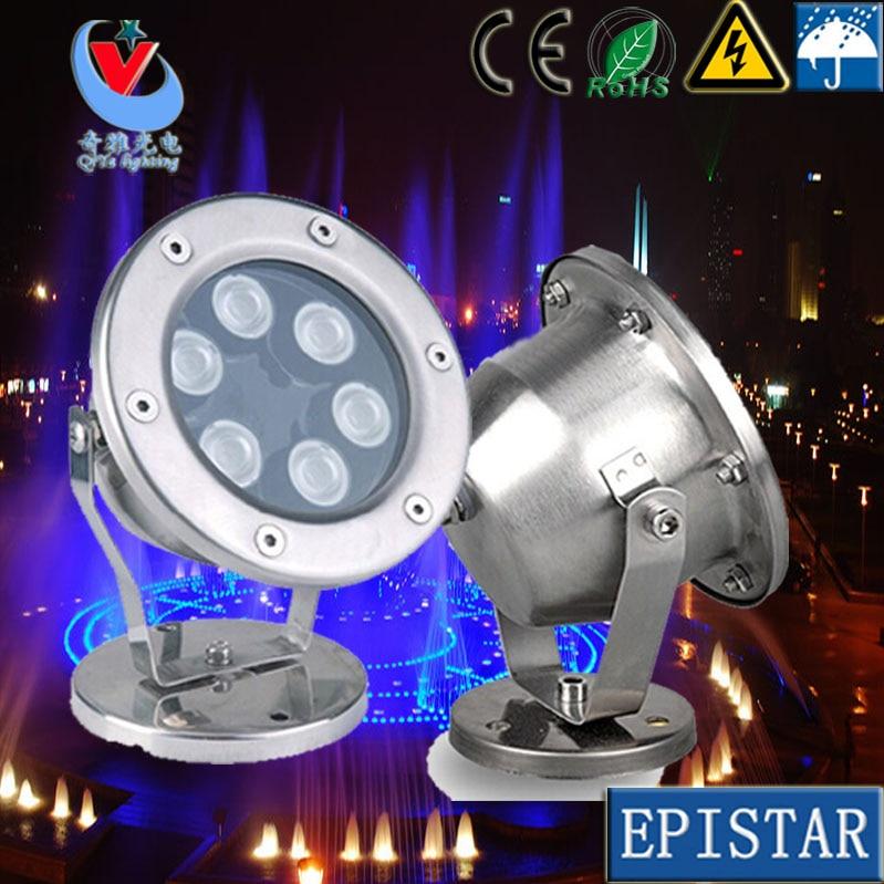 Fedex 2pcs 3w 5w 6w 7w 9w 12W 15w 18w 24w 36w free shipping IP 68 single color led Underwater Light led outdoor light bulb цена