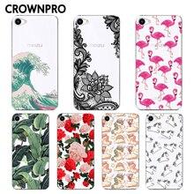 CROWNPRO Soft TPU Silicone Meizu U10 Case Cover Phone Painte
