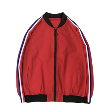 Jacket Mens Street Casual Large Size S-5XL Fashion Simple Sleeve Ribbon Decoration Thin Baseball Collar