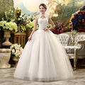 2016 Chea Lace Wedding Dresses Real Photo High Vintage Belt Vestidos Plus Size Bridal Ball Gown Vestidos de Noivas Free Shipping