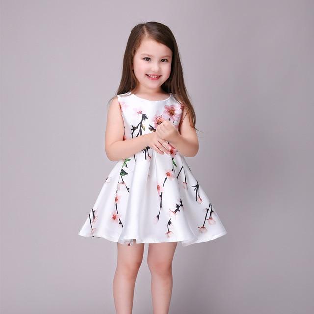 47ff0ed13f0a6 US $27.43 |Cute 2016 Summer Floral Print Baby Girls Dresses Party Tutu  Draped Dress Kids Toddler Costume Clothes Princess Vestidos De Festa-in  Dresses ...