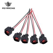 5 шт./компл. инжектор динамика EV6 косичка Соединительный зажим Топливная форсунка разъемы для многих автомобилей EV6 заглушка инжектора PQY-FIC13