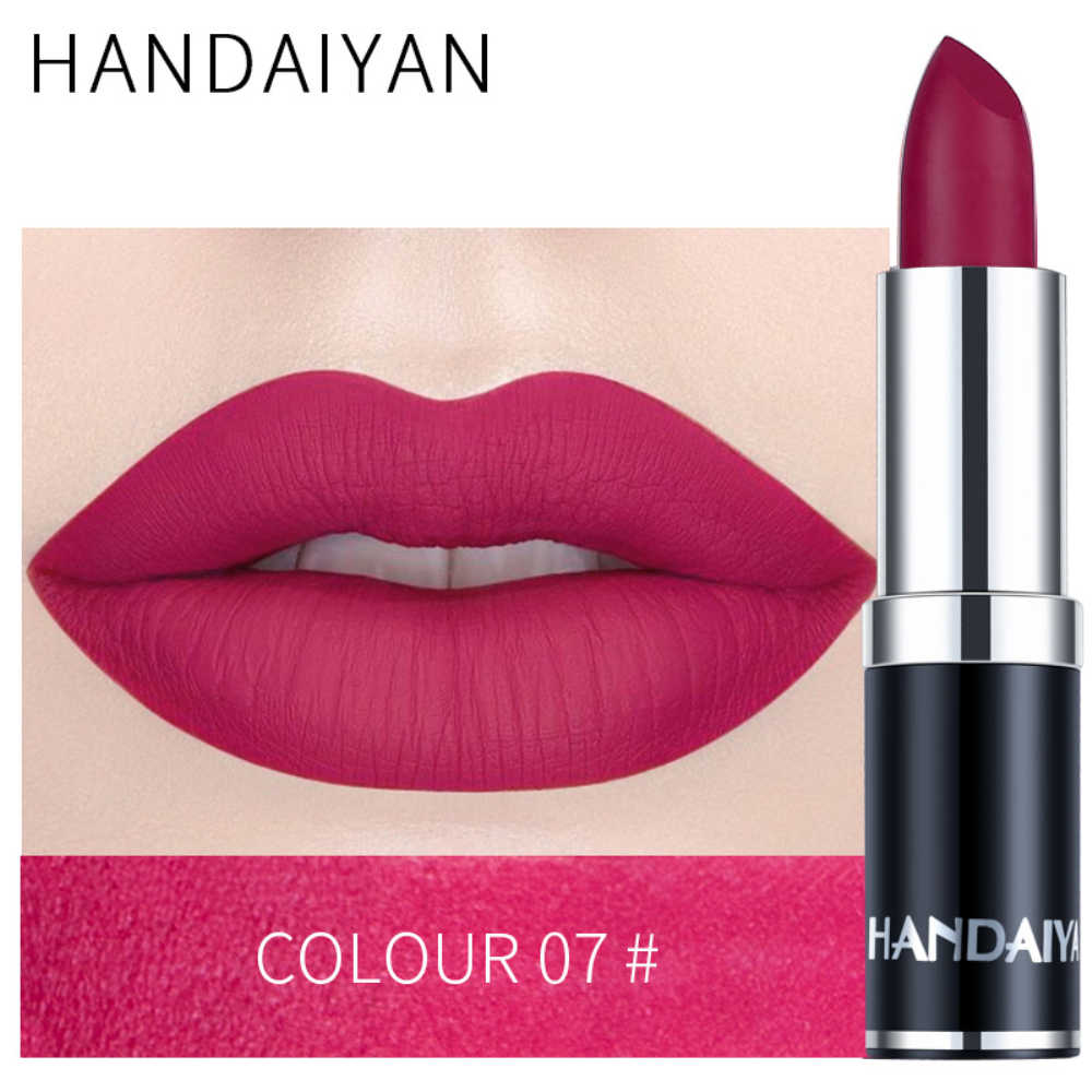 HANDAIYAN 12 色セクシーなマット口紅メイクロングラスティングシルバー顔料防水栄養ベルベットマット唇スティック TSLM1