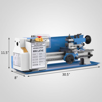 Metal Lathe 7 x 14 Inch Precision Mini Lathe 2500RPM 550W Variable Speed Milling Benchtop Wood Lathe Machine