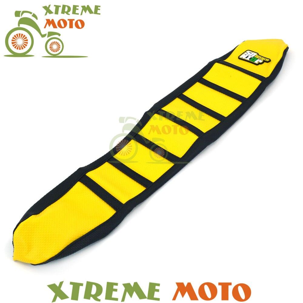 Jaune En Caoutchouc Vinyle Moto Pince Souple Housse De Siège Pour Suzuki RMZ250 RMZ 250 2007 2008 2009 07 08 09