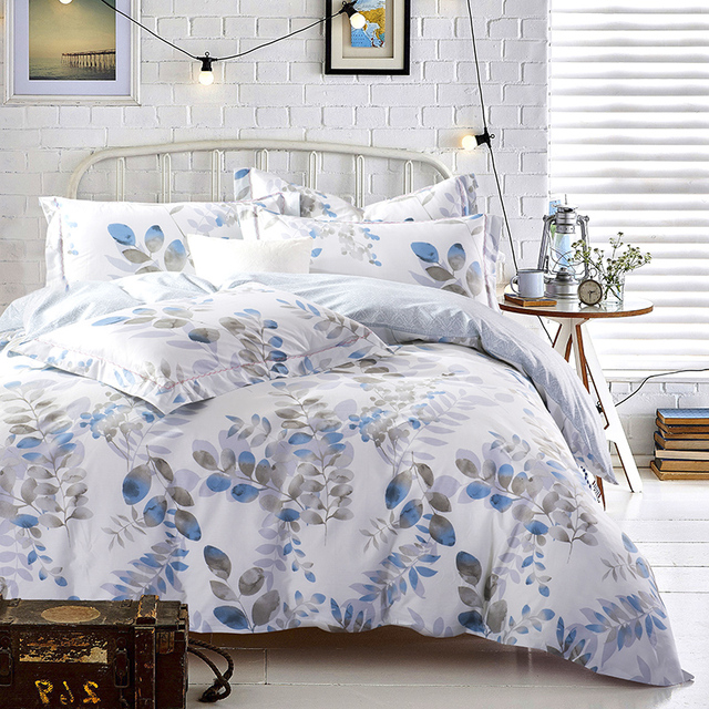 bed sheets pattern. Leaves Bedding Set Queen King Size Cotton Print Fabric Baroque Pattern Bed Sheets Duvet Cover E