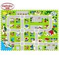 12 шт. Meitoku пены EVA игра-головоломка коврики для детей Свободное сочетание детские city Road brain-building.Each 40 см Х 40 см 1 cmThick