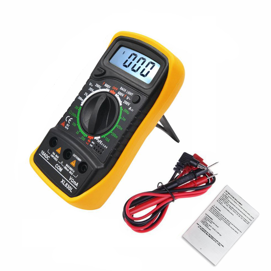 Image 2 - Urijk Portable Digital Multimeter Backlight AC/DC Ammeter Voltmeter Ohm Tester Meter XL830L Handheld LCD Multimetr-in Multimeters from Tools