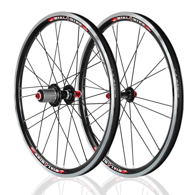 лучшая цена Mialo ultralight folding bike 20inch wheels 20 inch 406 alloy wheels BMX wheels bmx parts 8/9/10s