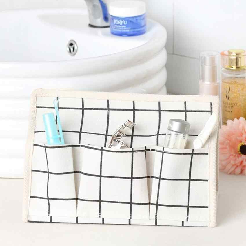 Malha de Tecido caixa de tecido de decoração para casa de linho de Algodão 3 Bolso Tipo de assento de Tecido Casa de Carro Caso suporte para guardanapos de papel toalhas