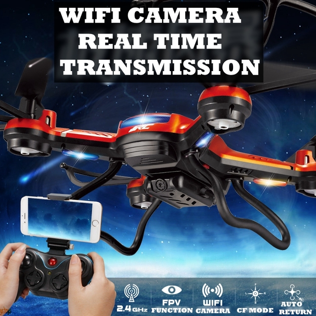 WiFi Drones Con Cámara Jjrc H12w Quadcopters Rc Hexacopter Dron WiFi Cámara de Vuelo de Helicóptero de Control Remoto Juguetes Helicópteros