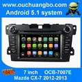 Ouchuangbo car audio dvd stereo multimedia para Mazda CX-7 2012 2013 com BT AUX USB quad core android 5.1 os