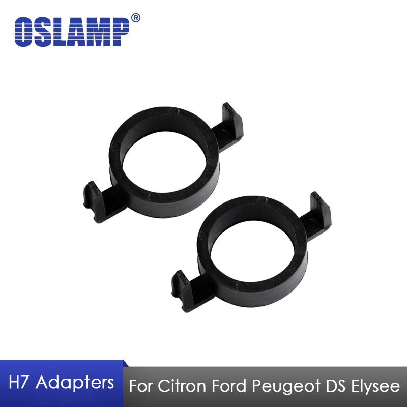 Oslamp H7 Adapter For Citron Ford Peugeot DS Elysee H7 Led Headlight Bulbs Plastic Adapter Holders Adapter Base for H7 Lamp