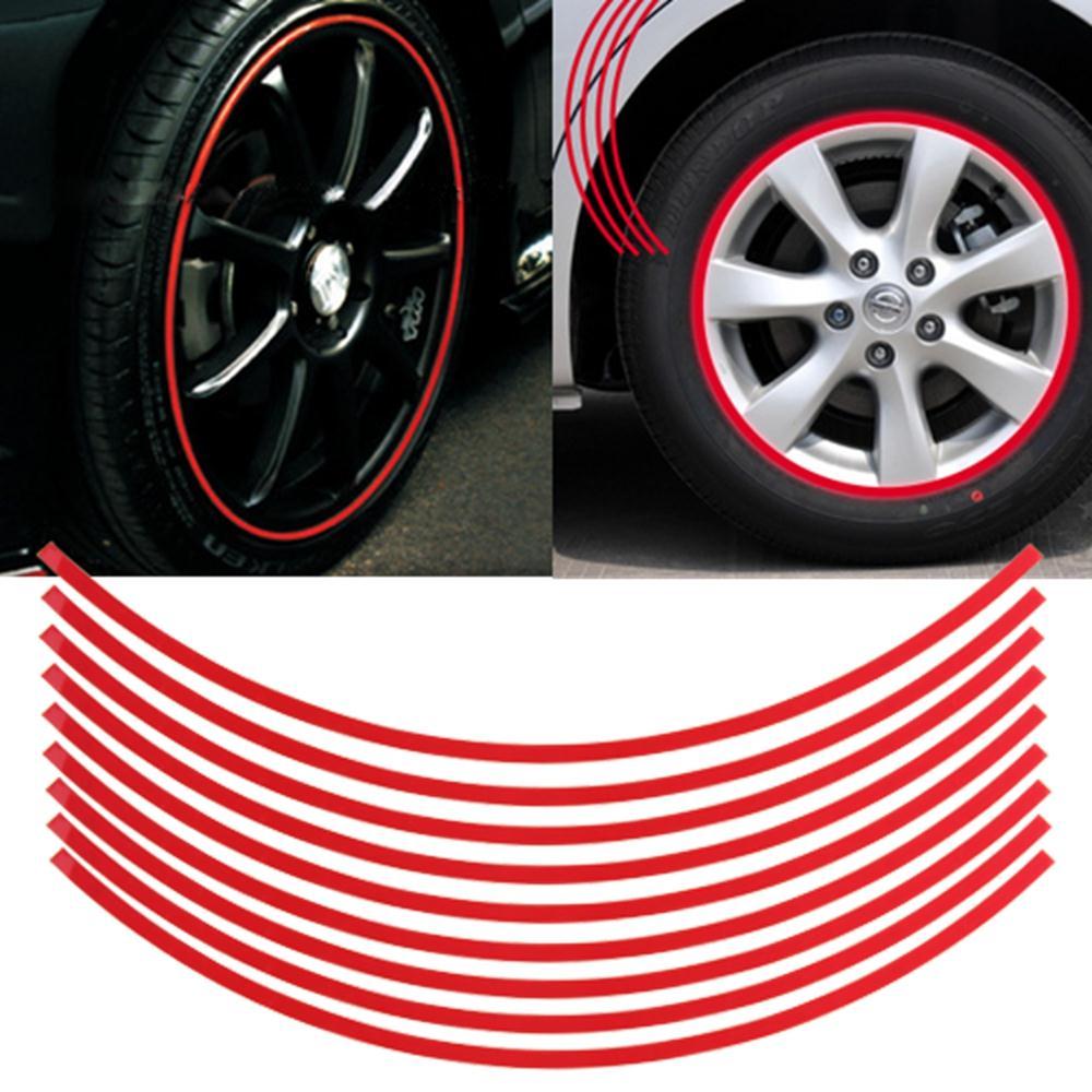 Qook Set 6mm Red Car Wheel Rim Reflective Tape Stripe Decal Sticker On Aliexpress Alibaba Group