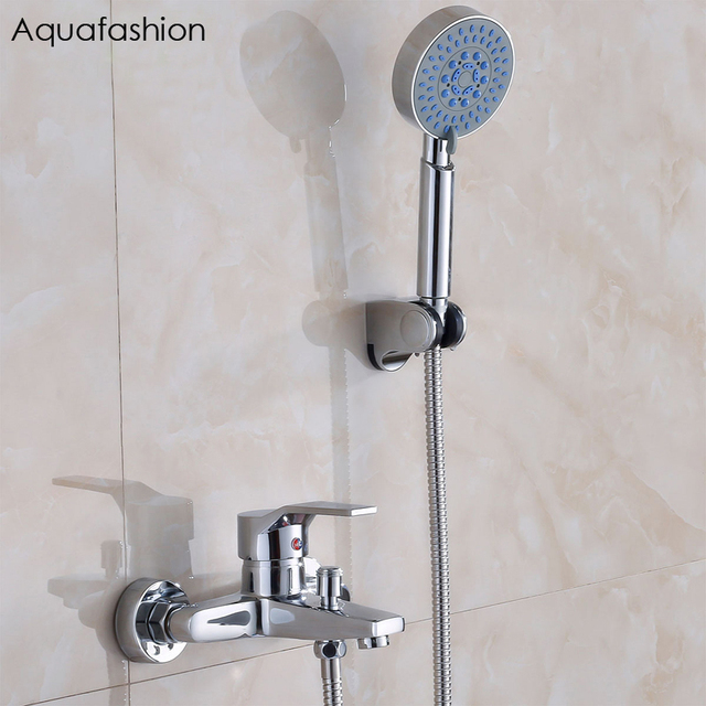 Classic Bathroom Shower Faucet Bath Faucet Mixer Tap With Hand Shower Head  Shower Set Wall Mounted