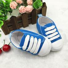 LONSANT First Walker Baby Shoes 2018 Newly Toddler Shoes Anti-Slip Soft Solid Canvas Shoes Dropshipping Wholesale(China)