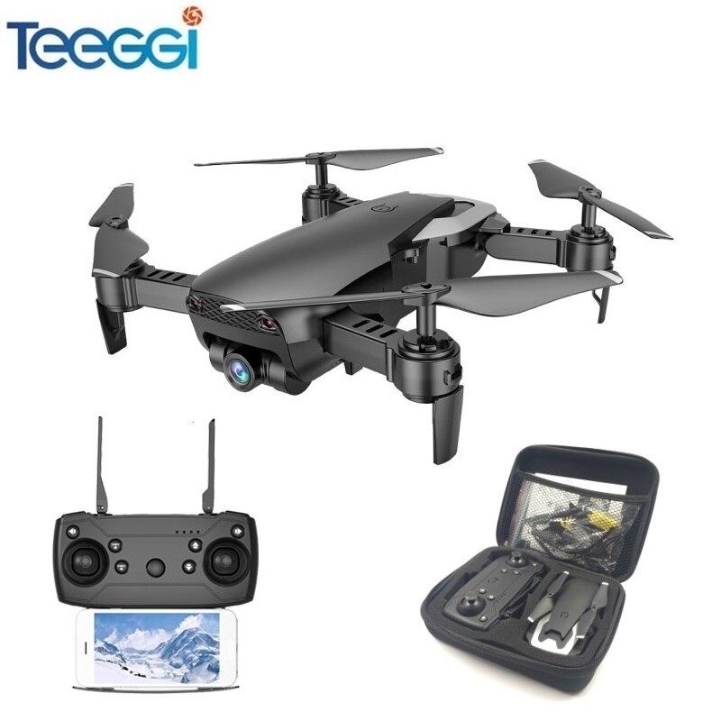 Dron Teeggi M69 FPV con cámara WiFi gran angular de 720 P HD plegable RC Mini Quadcopter helicóptero VS VISUO XS809HW E58 X12 Dron