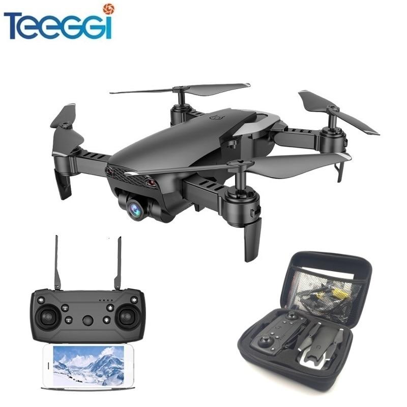 Teeggi M69 FPV Drone con 720 p-amplio ángulo de cámara WiFi HD plegable RC Mini Quadcopter helicóptero del viso XS809HW E58 X12 Dron