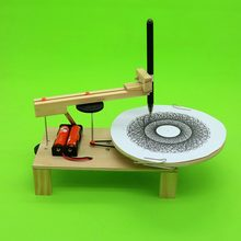 DIY Electric Plotter Drawing Robot Model Building Kit Physics Science Experiment Creative Inventions Assemble Learn Toy for Kids(China)