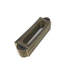 60mm x 17mm Mercantile Industrial Metal Label Holders Antique Bronze Name card Frame Holder Book Plate for Altered Assemblage(China)