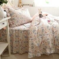 Новый сад постельных принадлежностей кружева принцесса рябить пододеяльник домашний текстиль Декоративные Постельные принадлежности про
