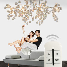 European round living room crystal lamps American style creative restaurant lamps modern minimalist led ceiling lamp bedroom bedroom modern minimalist restaurant jane round warm led crystal pendant light simple small living room lamps fg440