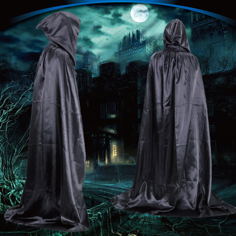Party & Holiday DIY Decorations Halloween Costume Wizard Cape Mopping Adult Grim Reaper Black Red Silver Golden Cloak 1