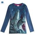 Novatx детская одежда мальчика футболка с длинным рукавом для мальчиков новый стиль детская одежда печати волк прохладный футболка дети футболки