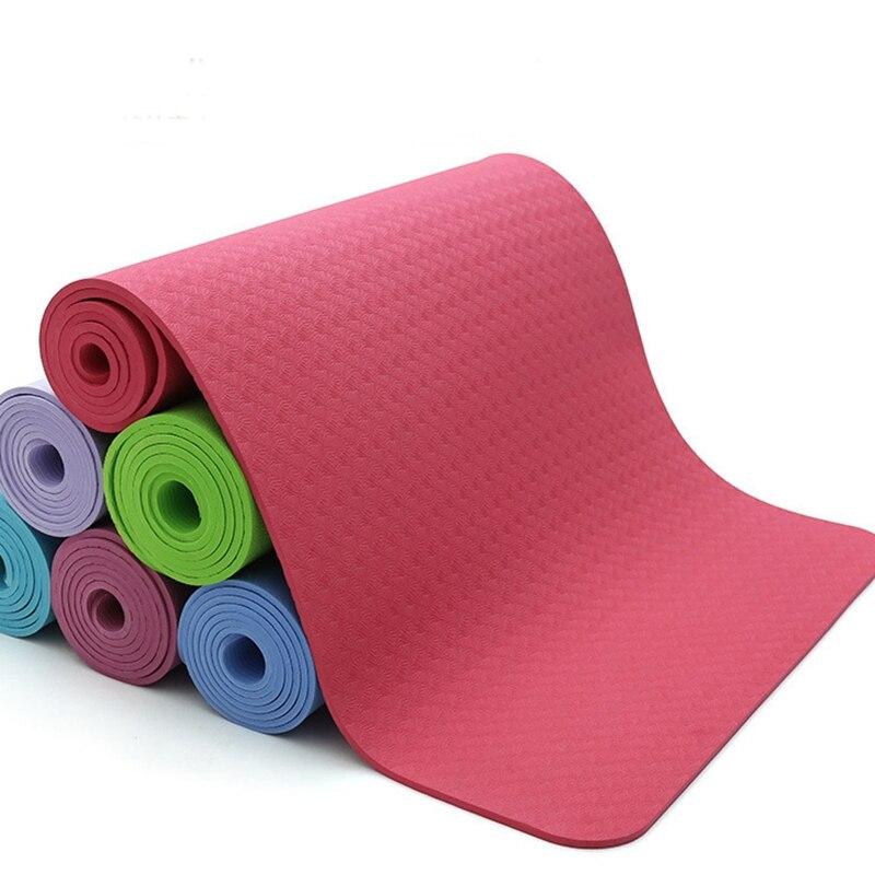 TPE 6 MM tapis de Yoga pas à pas Double couleur qualité ferme