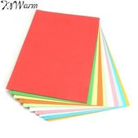 KiWarm Newest 100Pcs/set A4 Coloured Cardboard Paper For Scrapbook Greeting Cards Paper Craft Handicraft Children DIY Material