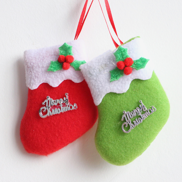 2016 babys first christmas stocking 97cm plush merry christmas holiday decoration red green christmas