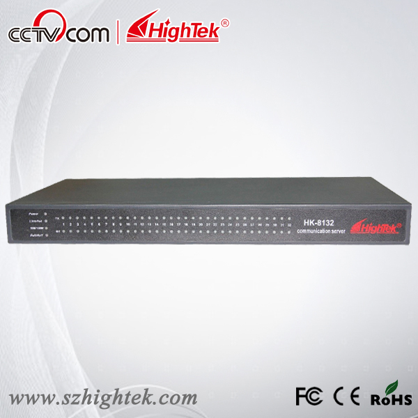 HighTek HK-8132A Industrial 32 ports RS232 to Ethernet Converter/Ethernet to Serial Device Server hightek hk 8116b industrial 16 ports rs485 422 to ethernet converter ethernet to serial device server