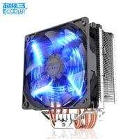 Pccooler X5 5 Pure Copper Heatpipe 12cm Led 4pin PWM Queit For Intel 775 1151 1155