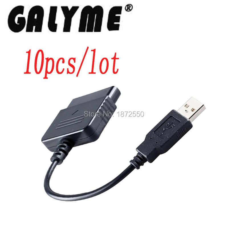 10 unids/lote nuevo para Sony ps1 PS2 PlayStation DualShock 2 Joypad GamePad a 3 PS3 PC USB Juegos controlador Adaptador convertidor Cable