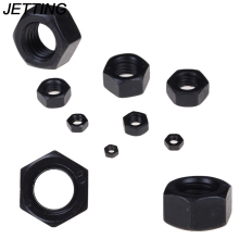 JETTING 10PCS/lot M3 M4 M5 M6 M8 M10 M12 Black Carbon steel hex nut Electronic Accessories Tools Wholesale