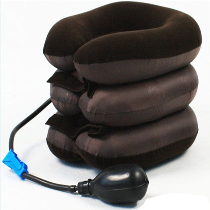 Headache Relax Cervical Pillow Vacuum Massage Neck Traction Inflatable Device Air Neck Soft Brace Relief Portable Care Alipower usb heating new neck cervical traction device collar head back shoulder neck pain headache health care massage device