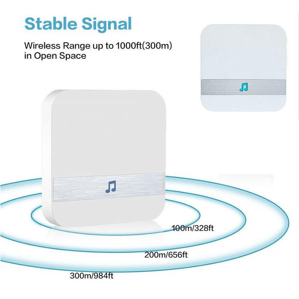 Smart Wireless WiFi 110dB Doorbell Chime Receiver Ding Dong Wifi Doorbell Camera Low Power Consumption Home Door Bell