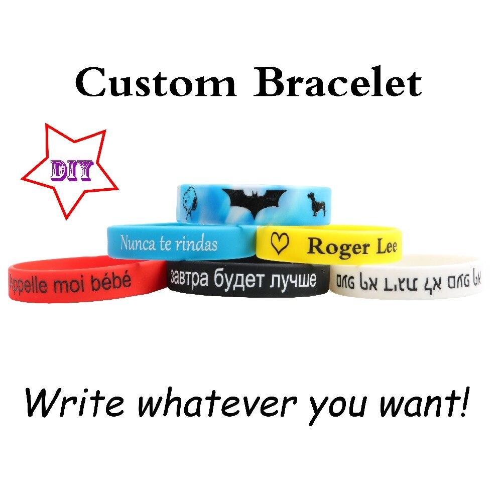 Alta qualidade personalizado pulseiras de silicone popular conteúdo múltiplo para crianças adulto id personalizado gravado diy privado criança presentes