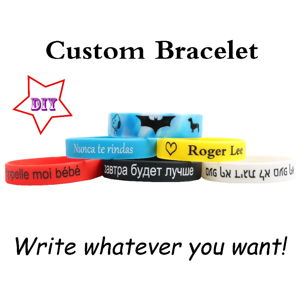 High Quality Custom Silicone Bracelets Popular Multiple content for kids adult ID Customized Engraved DIY Private Child Gifts недорого