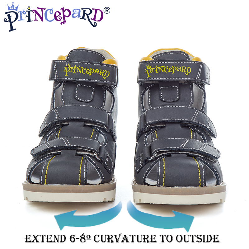 Princepard 2019 new summer counter last orthopedic shoes for boys extend 6 8º curvature to outside orthopedic sandals for kids