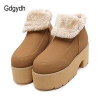 Gdgydh Fashion Warm Fur Winter Shoes Women Snow Boots 2017 New Slip Resistant Platform Female Cotton