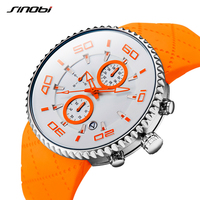 SINOBI Colorful Sports Waterproof Watches Relaxation Mens Stopwatch Luminous Watch Reloj Hombre 2017 Sport Chronograph Watch