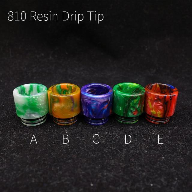 810 Epoxy Resin Driptips Cigarette Electrinic Accessory For Ijust 3 Atomizer Reload X Rda
