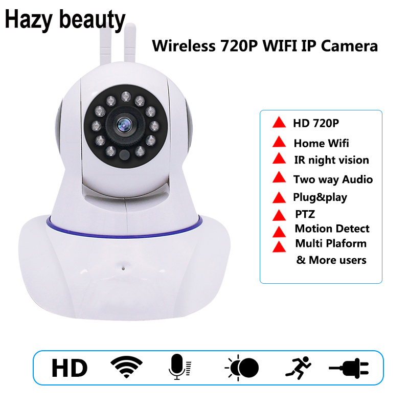 Hazy beauty 720P Security Baby Monitor IP Camera WiFi Home Security CCTV Camera With Night Vision Two Way Audio P2P Remote View fghgf 720p wireless ip security camera baby pet video monitor home security system with pan and tilt two way audio night vision