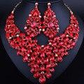Элегантный Water Drop Себе Ожерелье Серьги для Женщин Мода Индийские Свадебные Комплекты Ювелирных Изделий