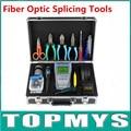 Ftth-fiber optic tool kit с волоконно кливер Оптический Измеритель Мощности 5 КМ Визуальный Дефектоскоп Волоконно-Оптический Кливер Комплекты TM-OTK4