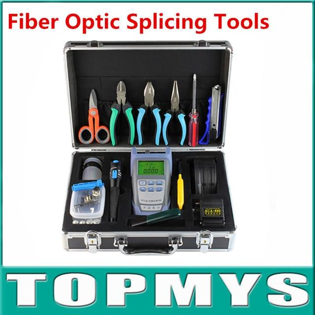 ftth fiber optic tool kit with fiber cleaver Optical Power Meter 5KM Visual Fault Locator Optical Fiber Cleaver Kits TM-OTK4